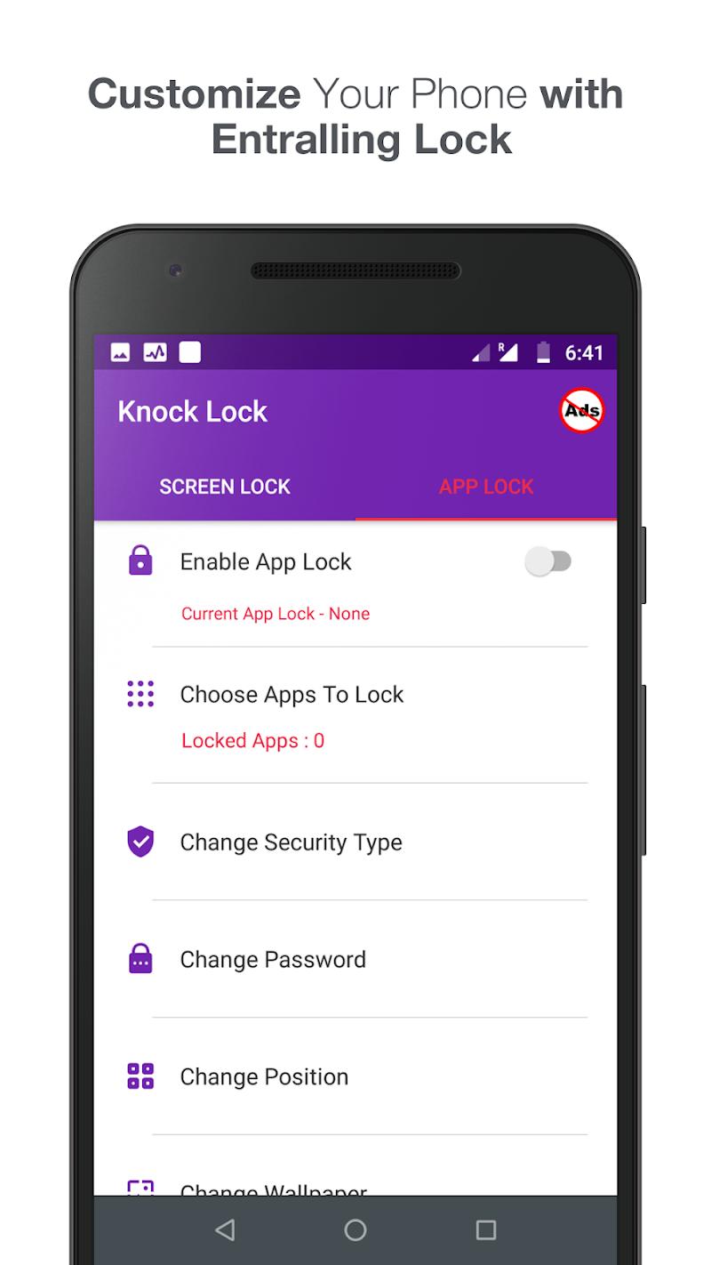 Knock lock screen - Applock Screenshot 1