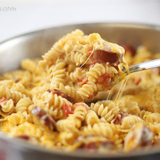 Spicy Turkey Sausage Pasta.