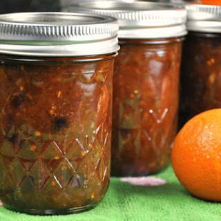 Lemon Clementine Chutney with Dried Cranberries.