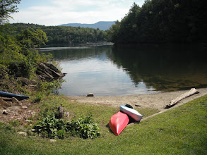 Photo: Kayaks and swimming area at Little River