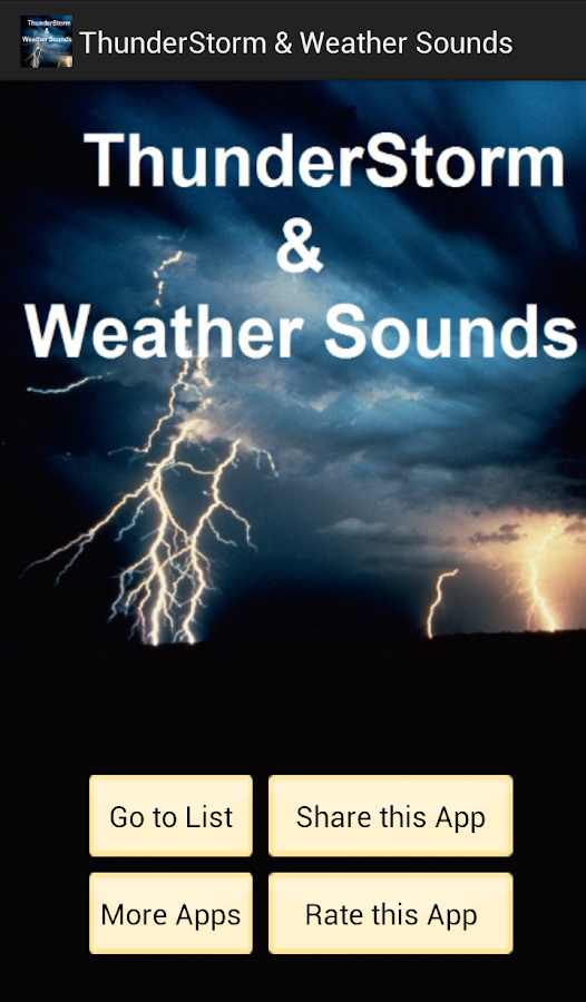 Weather Sounds- screenshot