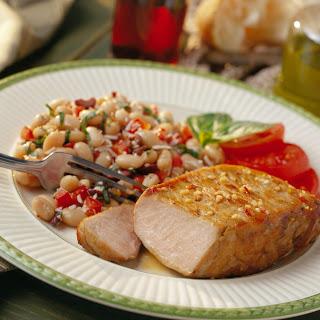 Zesty Italian Pork Chops with Cannellini Salad Recipe