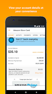 Amazon Store Card Screenshot