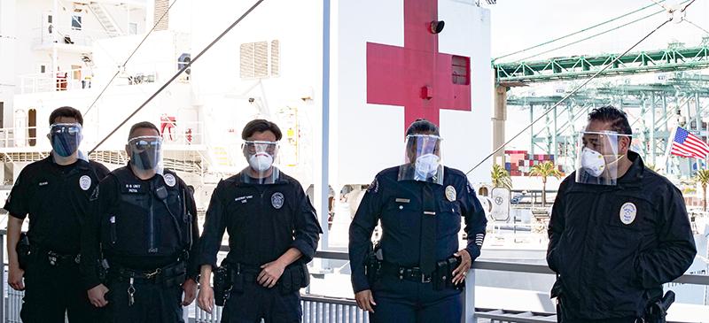 Los Angeles first responders using Maker Response Hub 3D printed PPE