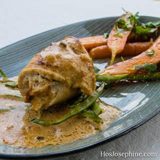 Stuffed Chicken Breast with Balsamic Vinegar Carrots.