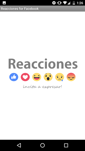 Reacciones for Facebook Android App Screenshot