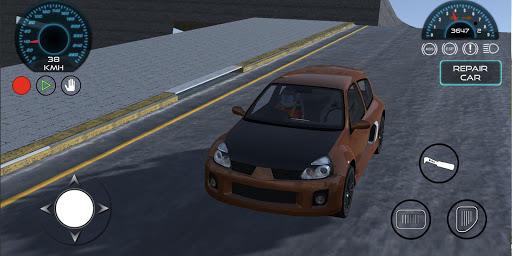 Clio Sport City Car Drift Simulator  screenshots 1