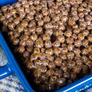 Peanut Butter Chocolate Cereal Treat Bars #SundaySupper.