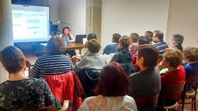 Photo: Marià Manent a la Biblioteca de Cervera, a càrrec de FInanglès