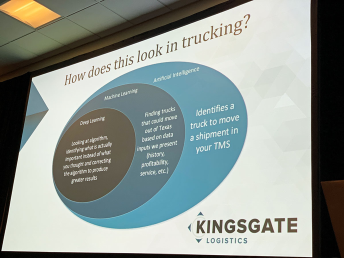 Matching trucks and loads is a major way artificial intelligence can be used in transportation and logistics.  - Photo by Deborah Lockridge