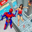 Superhero Flying Robot Crime City Rescue icon