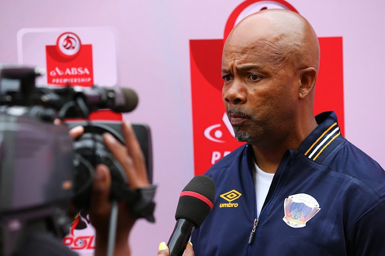 Teboho Moloi, Head Coach, of Chippa United during the Absa Premiership match between Chippa United and Polokwane City at Nelson Mandela Bay Stadium on December 16, 2017 in Port Elizabeth, South Africa.