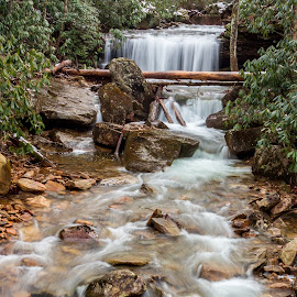 Streamed  by Kevin Frick - Landscapes Waterscapes ( stream, west virginia, waterfall )