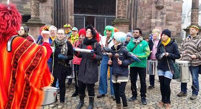 Photo: CarnavalSambaBanda vor dem Münster