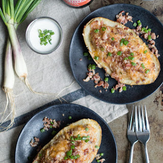Homestyle Stuffed Potatoes with Sausage & Bacon