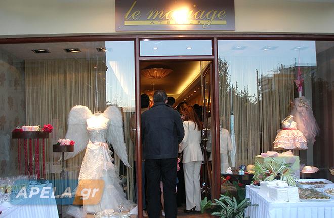 ce235b071725 Τα εγκαίνια του καταστήματος νυφικών και βαπτιστικών Le mariage στη ...