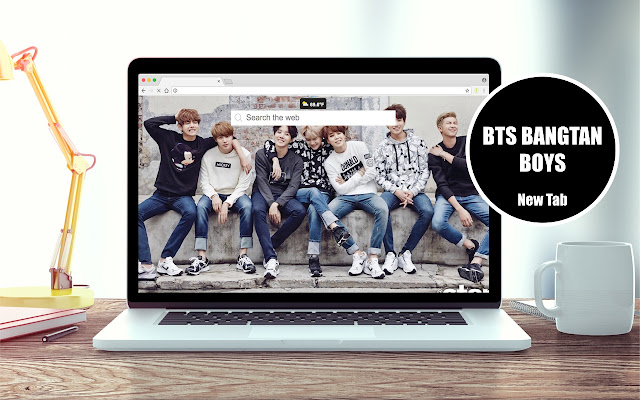 BTS Bangtan Boys New Tab Theme