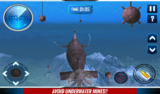 Russian Submarine Navy War 3D game (apk) free download for Android/PC/Windows screenshot