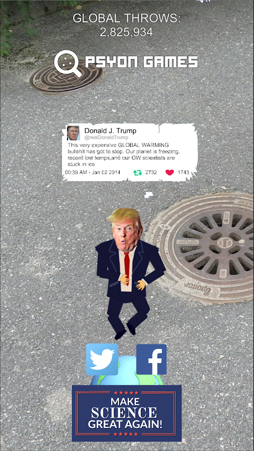 TrumpVsScience: Trump GO- screenshot