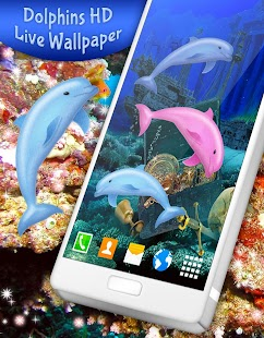 Dolphins HD Live Wallpaper - náhled