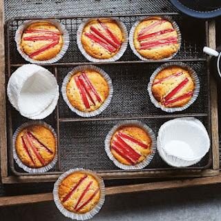 Sugar-free Rhubarb And Almond Muffins.