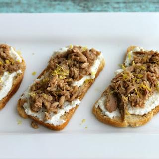 Lemon Pepper Tuna Toasts.