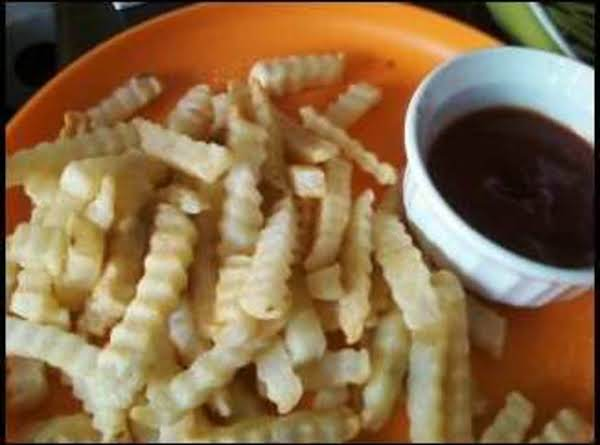 Homemade Crinkle Fries W/ Chipotle Ketchup Recipe