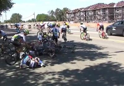 Crash ontsiert laatste kilometers Tour of California, talentvolle Belg grootste slachtoffer