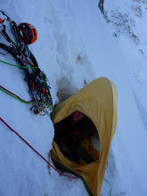 Photo: Extreme camping on Mount Hunter