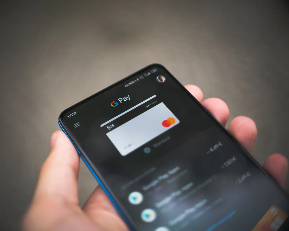 Google Pay app on smartphone