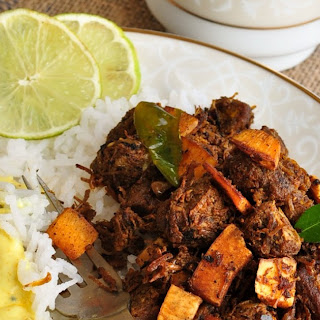 Erachi Ullarthiyadu / Traditional Kerala Style Spiced Beef Roast with Coconut