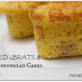 Smoked Brats & Spicy Cornbread Cakes