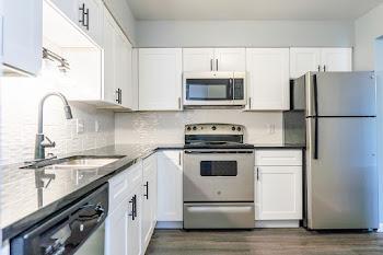 Go to 2 Bedroom, 1.5 Bathroom - Upgraded Floorplan page.