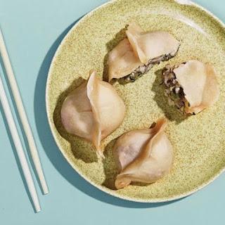Steamed Mixed Shellfish Dumplings.