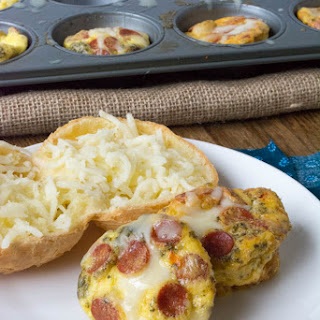 Pepperoni Pizza Egg Muffins