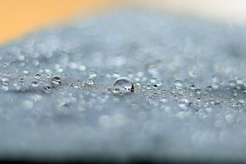 Macro Photography of Water Droplets