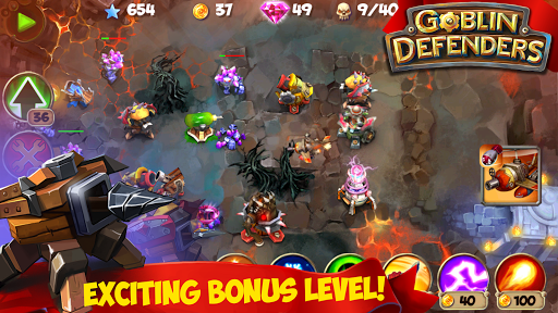 (APK) تحميل لالروبوت / PC TD: Goblin Defenders - Towers Rush PRO ألعاب screenshot