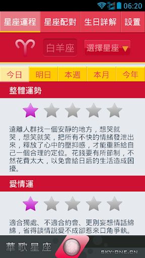 华歌星座(運勢,配對 生日詳解)