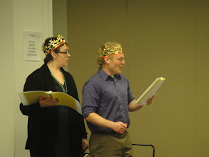 "Photo: Readings on the Road - Staged Reading Series ""A Princess Who Would Not Cry"" performs for the Family Arts Saturday program."