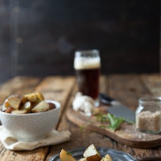 Garlic Herb Beer Butter Roasted Potatoes