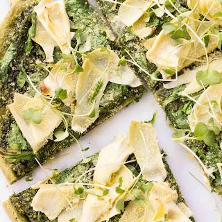 Spinach + Artichoke Quinoa Pizza Crust