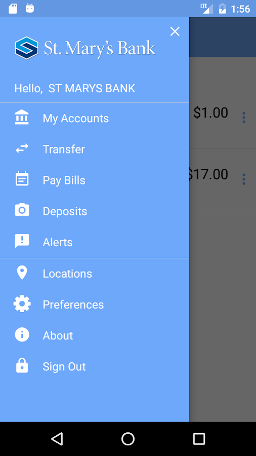 St. Mary's Bank Mobile Banking- screenshot