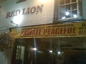 Photo: The Red Lion Theatre banners often provide an artful resonation to the town.