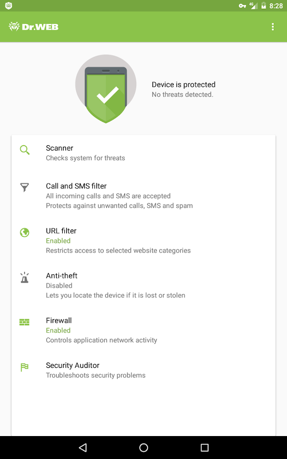 Dr.Web Security Space Life- screenshot