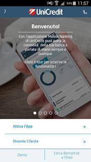 Mobile Banking UniCredit screenshot 01