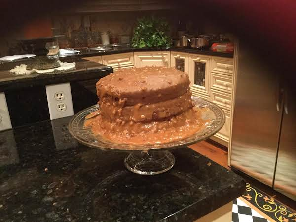 Banana Cake With Caramel Icing Recipe