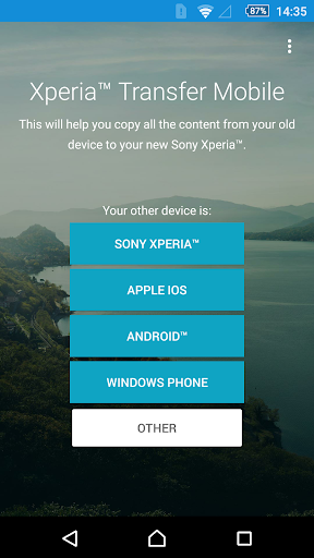 Xperia™ Transfer Mobile