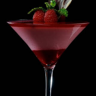 Raspberry Martini Cocktail.