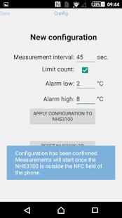 NHS3100 Temperature Logger APP - náhled