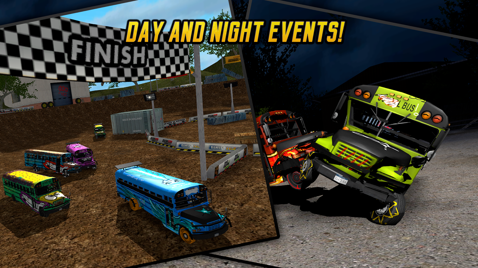 School Bus Demolition Derby- screenshot